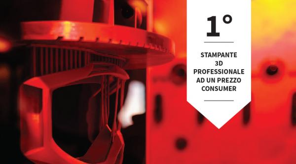 stampante 3d professionale prezzo consumer