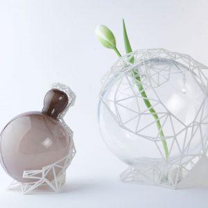 Poièin: Vasi Di Vetro Di Murano Insieme Con La Stampa 3D