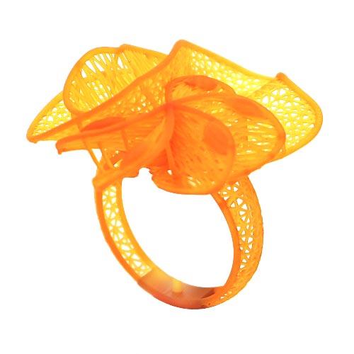 anello fusione stampato con stampante 3d dettagli complessi